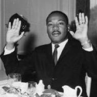MLK hands up